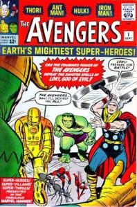 映画は「アベンジャーズ」のほうが先だったが、出版年度は「じゃすぃティス・リーグ」が結成された3年後の1963年である © 1963 Marvel Comics, Inc. ALL RIGHTS RESERVED.