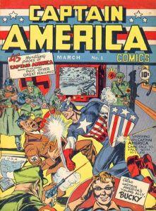 1941年発刊されたキャプテン・アメリカ © 1941 Marvel Characters, Inc. ALL RIGHTS RESERVED.