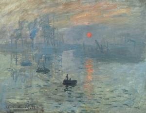 Impression, soleil levant,1873, Oil on canvas, 48 x 63 cm, Musee Marmottan, Paris