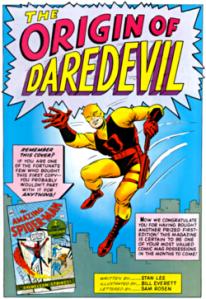 1964年公開されたデアデビル © 1964 Marvel Characters, Inc. ALL RIGHTS RESERVED.