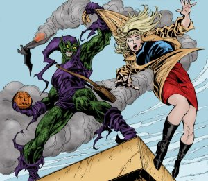 グリーン・ゴブリンとスパイダーマンの彼女であるグウェン・ステイシー ©  Marvel Characters, Inc. ALL RIGHTS RESERVED.