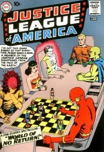 会議をしているジャスティス・リーグのメンバーたち © 1960 DC Comics, Inc. ALL RIGHTS RESERVED.