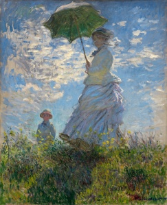 The Stroll, Camille Monet and Her Son Jean (Woman with a Parasol),1875 Oil on canvas, 100 x 81 cm  National Gallery of Art, Washington