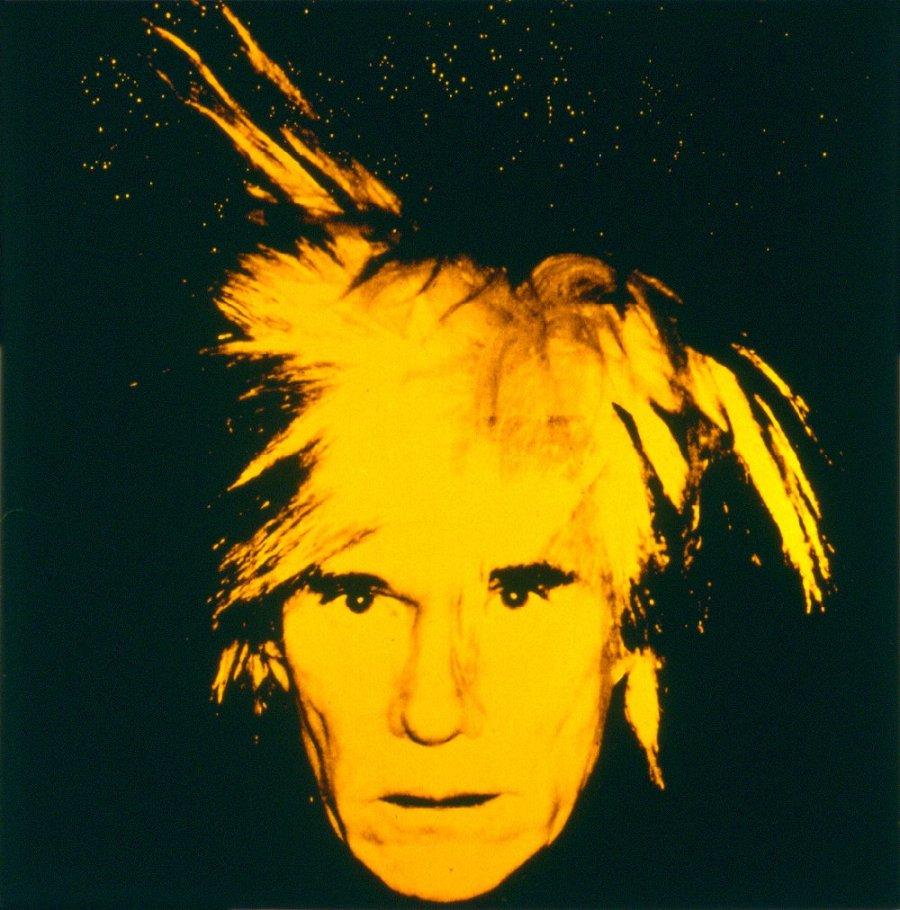 アンディ・ウォーホル、「自画像(1986)」  麻にアクリル、シルクスクリーン・インク  203.2 x 193   アンディ・ウォーホル美術館蔵  ©2013 The Andy Warhol Foundation for the Visual Arts, Inc. / ARS, New York