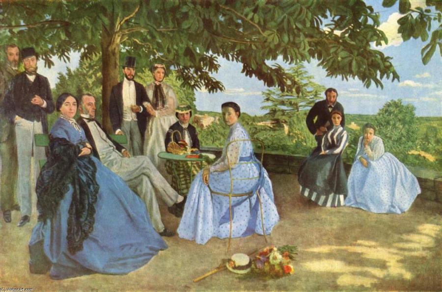《家族の集い(Réunion de famille)》 フレデリック・バジール 1867年(1869年に加筆) 油彩、カンヴァス 152×230 cm  オルセー美術館(パリ)