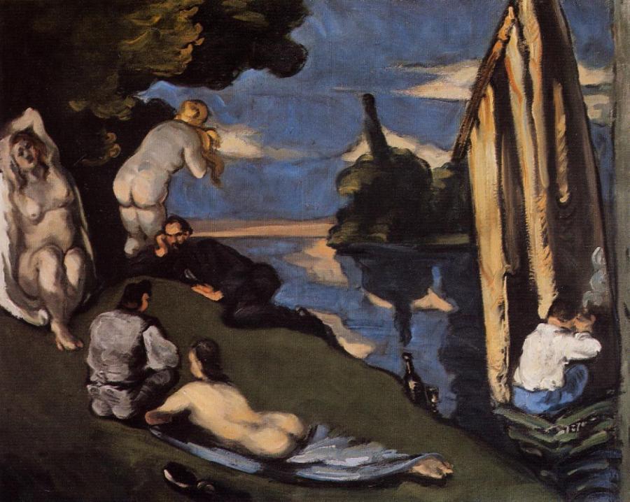 《牧歌(Pastorale)》 ポール・セザンヌ、1870年 油彩、カンヴァス 65×81 cm   オルセー美術館(パリ)