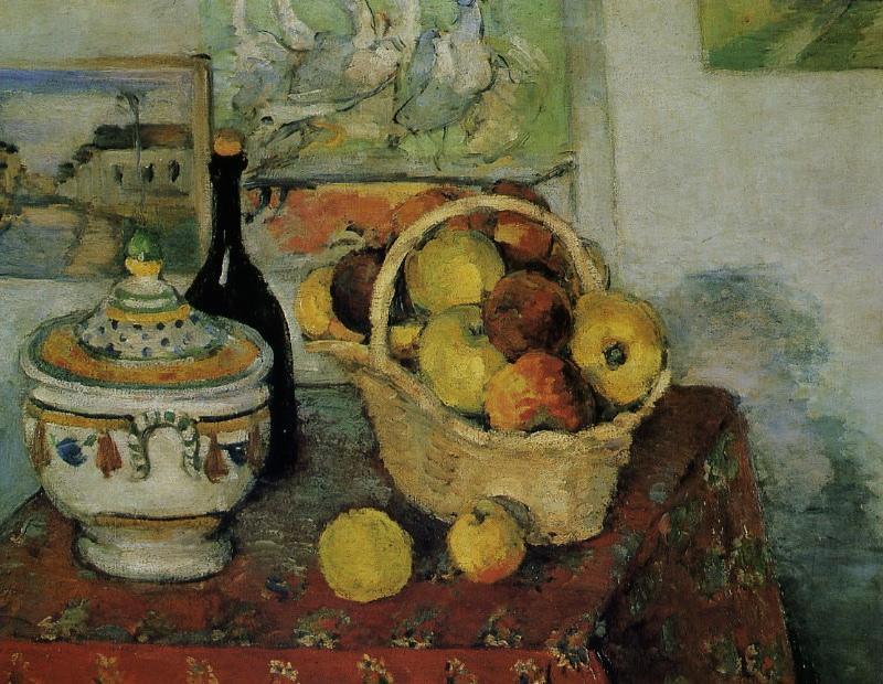 《スープ入れのある静物(Nature morte à la soupière)》 ポール・セザンヌ、1873-74年頃 油彩、カンヴァス 65×81.5 cm  オルセー美術館(パリ)