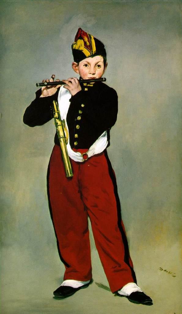 《笛を吹く少年(Le fifre)》 エドゥアール・マネ、1866年 油彩、カンヴァス 160.5×97cm オルセー美術館(パリ)