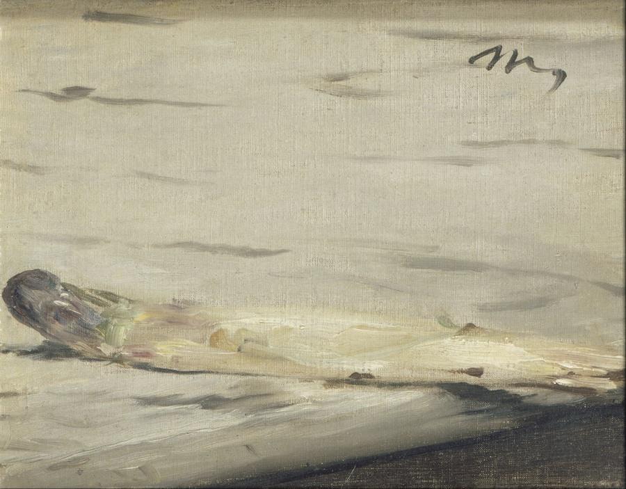 《アスパラガス(L'asperge》 エドゥアール・マネ、1880年 油彩、カンヴァス 16.9×21.9 cm オルセー美術館(パリ)