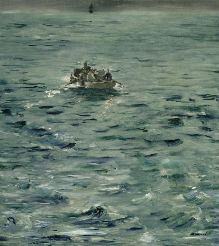《ロシュフォールの逃亡》 エドゥアール・マネ、1881年 油彩、カンヴァス 79×72cm オルセー美術館(パリ)