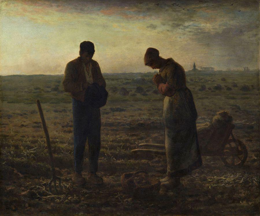《 晩鐘(L'Angélus)》 ジャン=フランソワ・ミレー、1857-59年 油彩、カンヴァス 55.5×66 cm